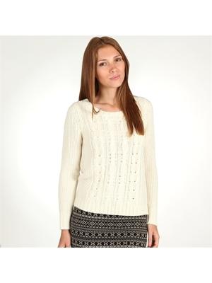 07e4765082 Pimkie fehér kötött pulóver, 36€