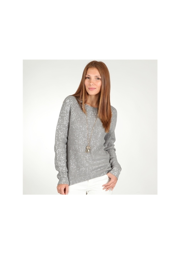 f4608dc4c9 Pimkie ezüstszálas szürke pulóver, 30€