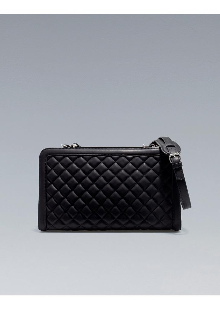 5dedd3222612 Zara fekete steppelt táska, 15 995 Ft