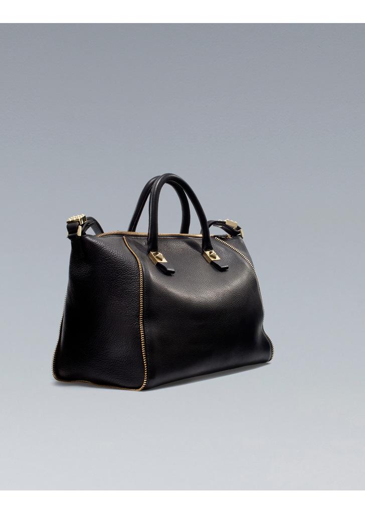 acf1cea7f91b Zara fekete cipzáras táska · Zara fekete cipzáras táska ...
