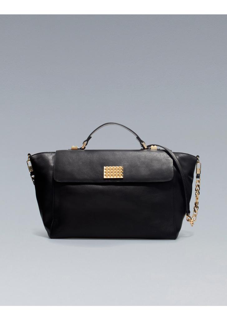 709d7cb752ca Zara fekete trapéz táska, 27 995 Ft