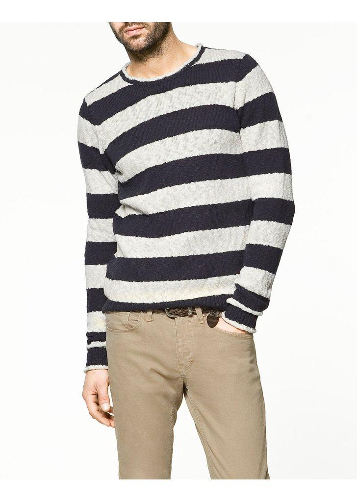 Zara csíkos pulóver 752eb07968