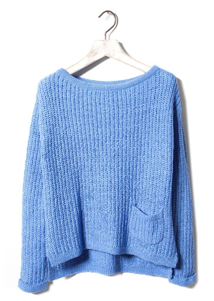 Pull and Bear női kötött pulóver zsebbel ... e641981e03