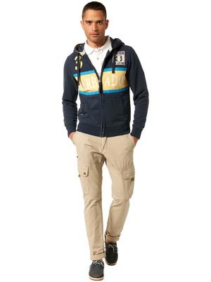 Tom Tailor feliratos kék kapucnis pulóver 3e9121e125