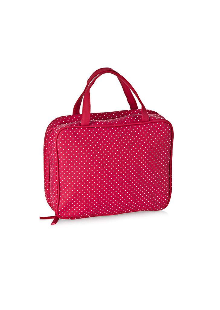 0e9a9b84e988 Women' Secret pöttyös bordó kozmetikai táska, 20€