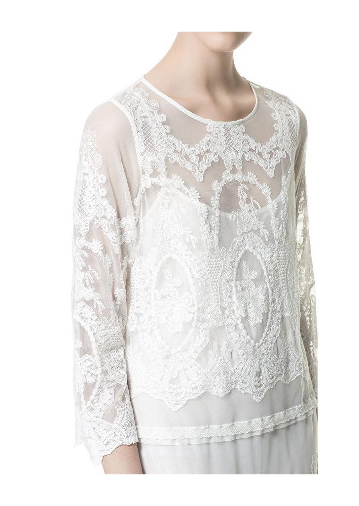46325d4c63 Zara fehér csipke ruha, 17 995 Ft
