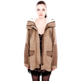 Pull and Bear zsebes kapucnis parka