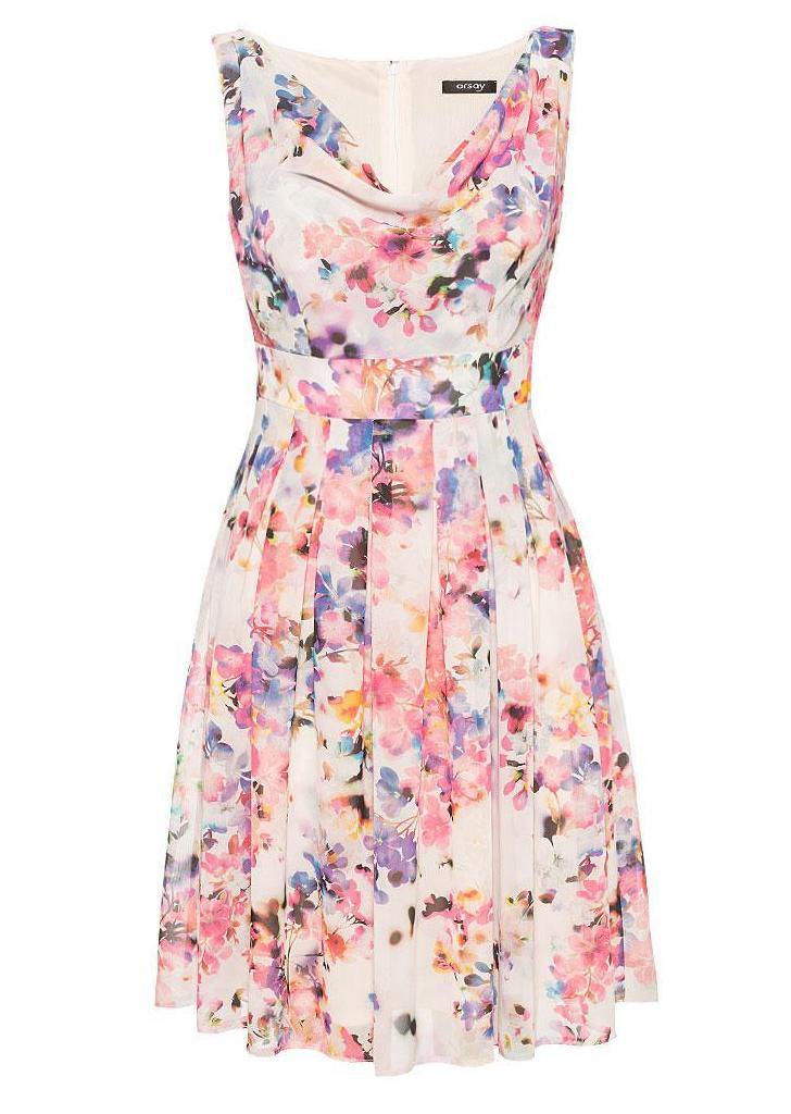 006e39c48a Orsay virágmintás rakott ruha, 40€