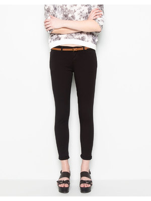 Pull and Bear fekete basic chinos