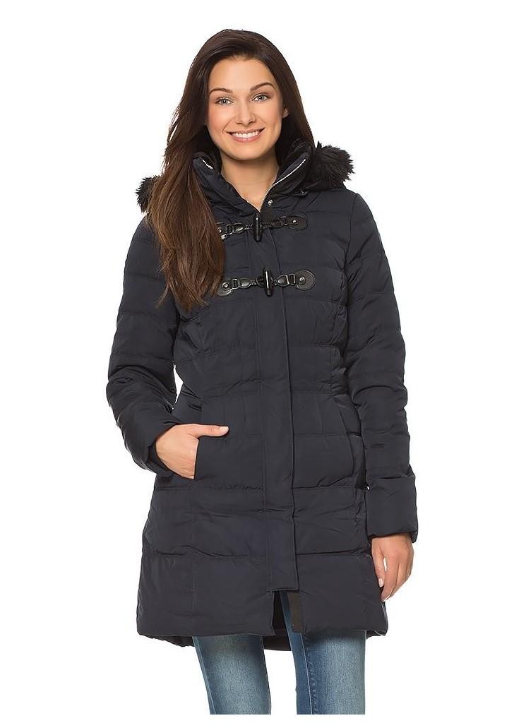 Orsay női sportos sötétkék kapucnis kabát ... 1bbbafd774