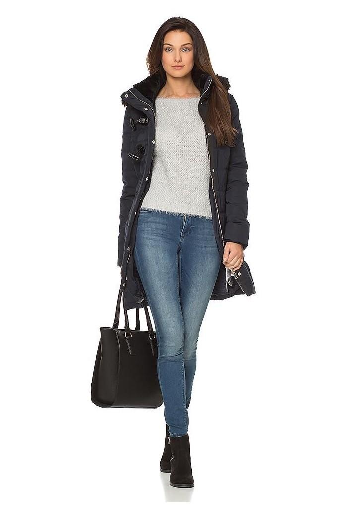 ... Orsay női sportos sötétkék kapucnis kabát 1f3822d0ac