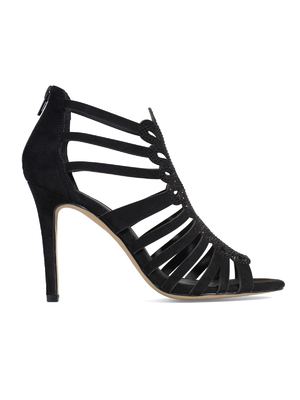 New Yorker sikkes női fekete magassarkú szandál - New Yorker 2b653cf6e5