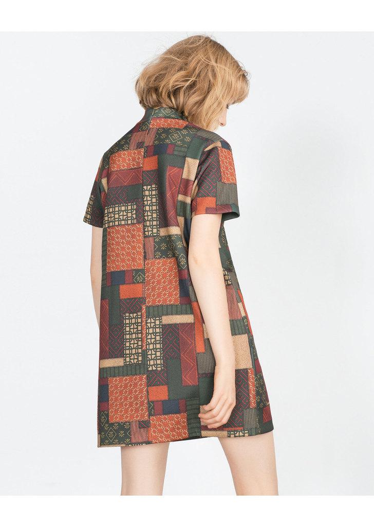 Zara szép női mintás magas nyakú ruha ... 9f6e2932e9