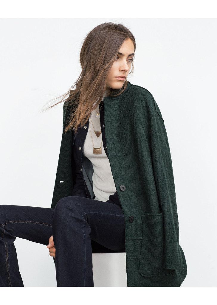 ... Zara sötétzöld női gyapjú kabát ... 7faeb88444