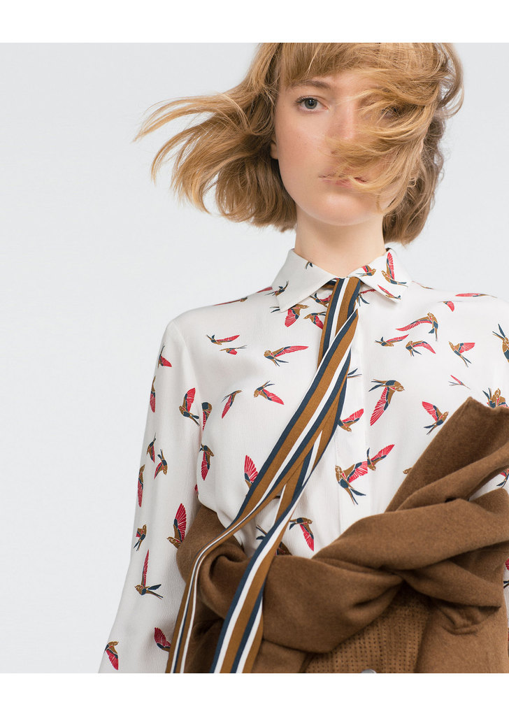 ... Zara madármintás női ing a1f8085aa8