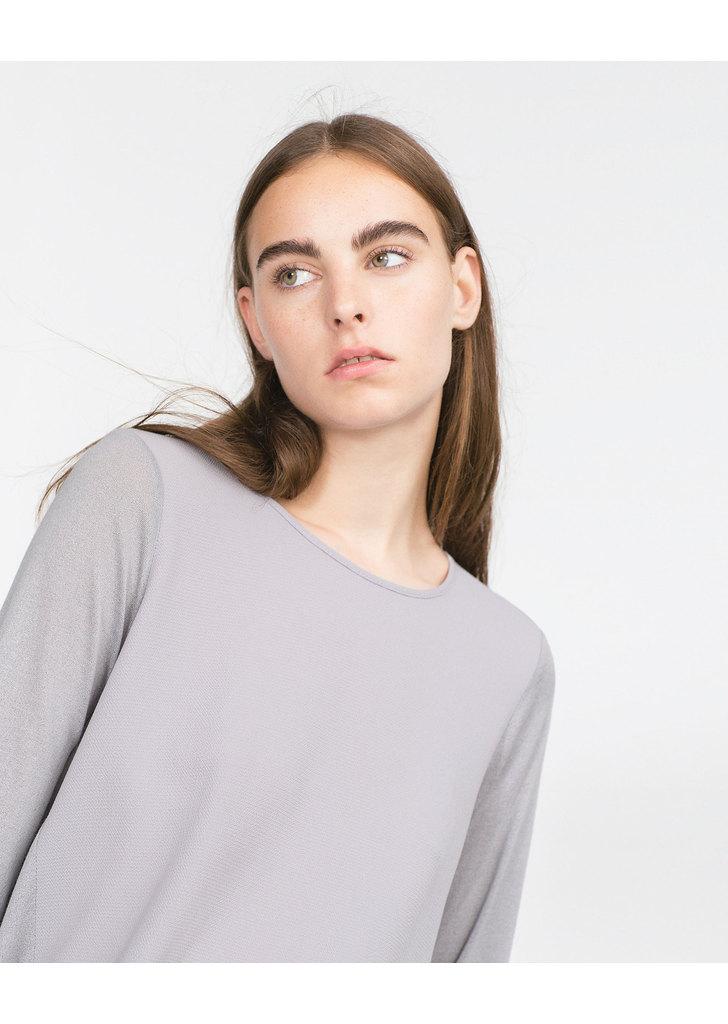 ... Zara női szürke asszimetrikus tunika top ... 82b1b16091