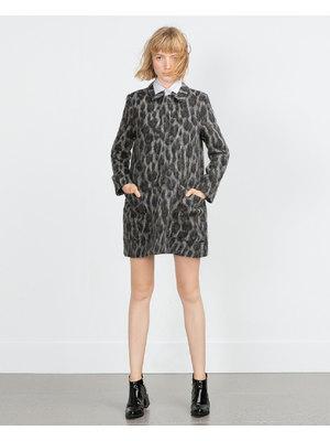 Zara mintás alpaka női kabát 4a68b8e262
