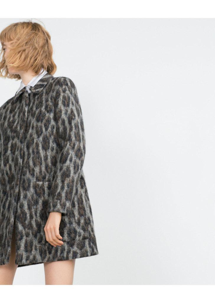 ... Zara mintás alpaka női kabát ... 9ef84e59e4