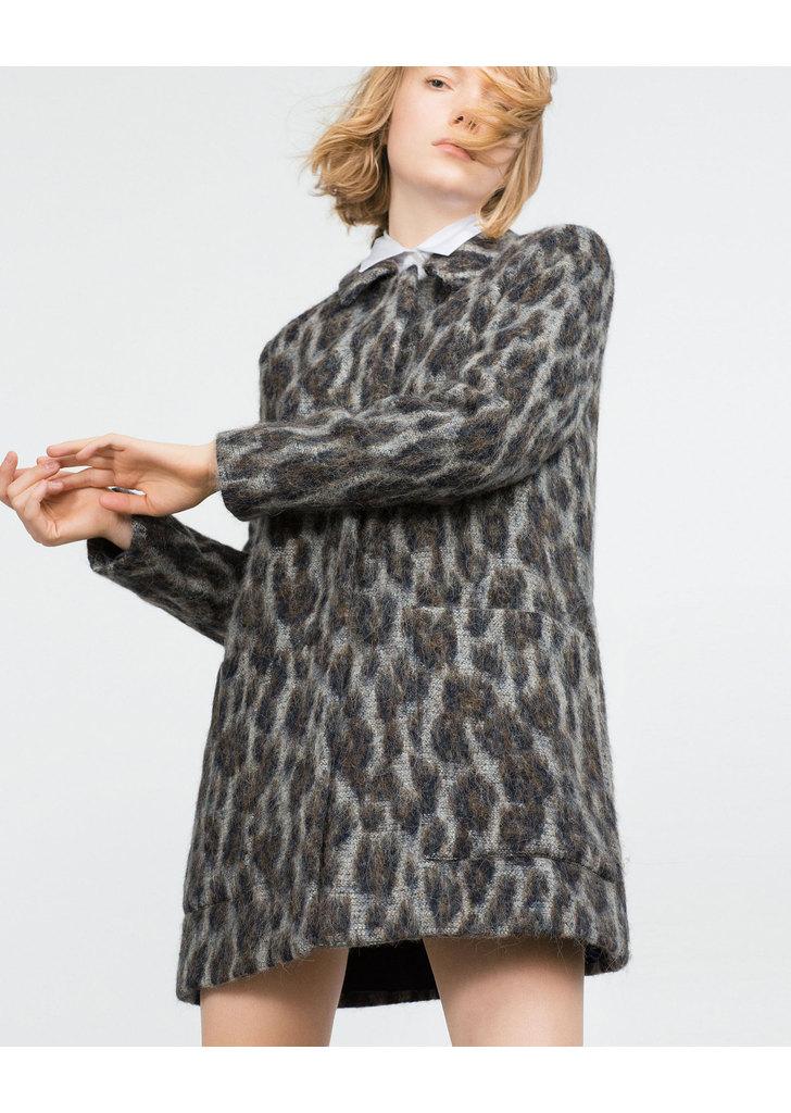 ... Zara mintás alpaka női kabát 971c186adf