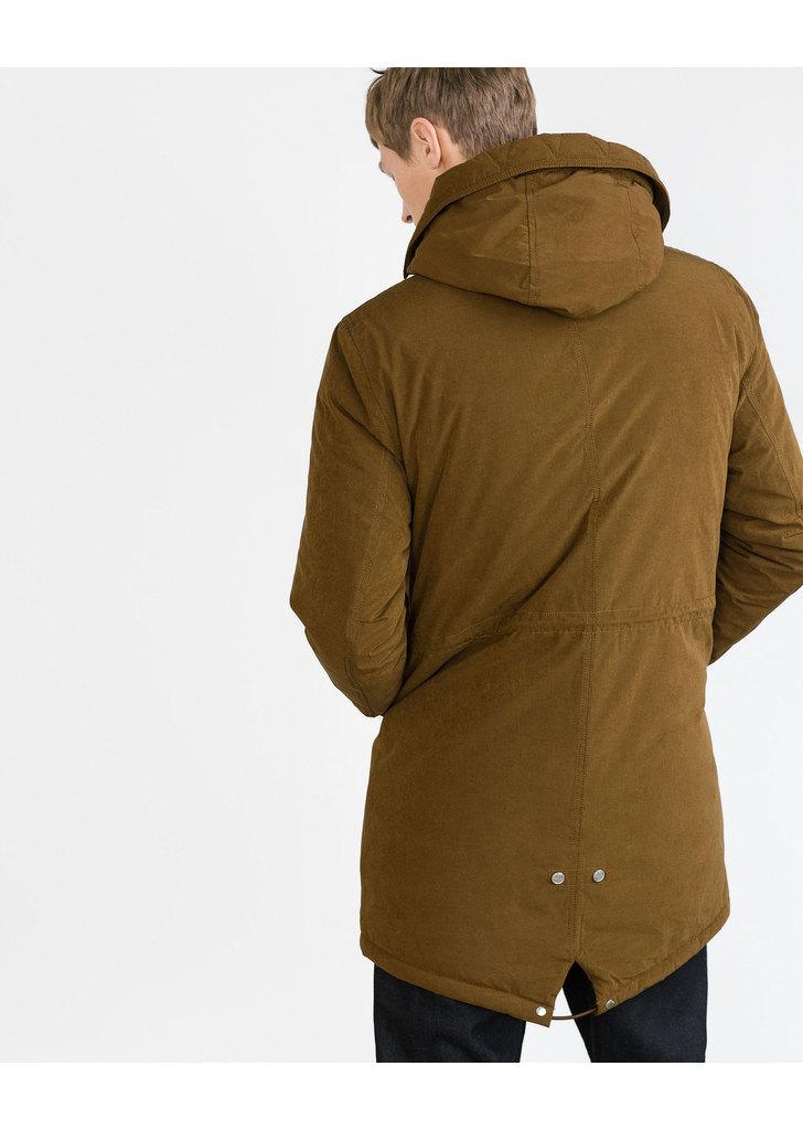 72dac54750 Zara barna férfi télikabát · Zara barna férfi télikabát ...