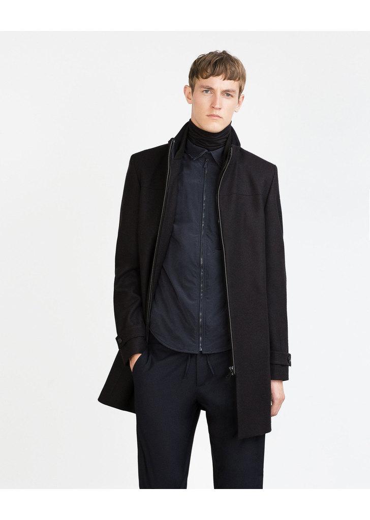 Zara fekete cipzáros férfi szövetkabát · Zara fekete cipzáros férfi  szövetkabát ... 93b8dfef7c