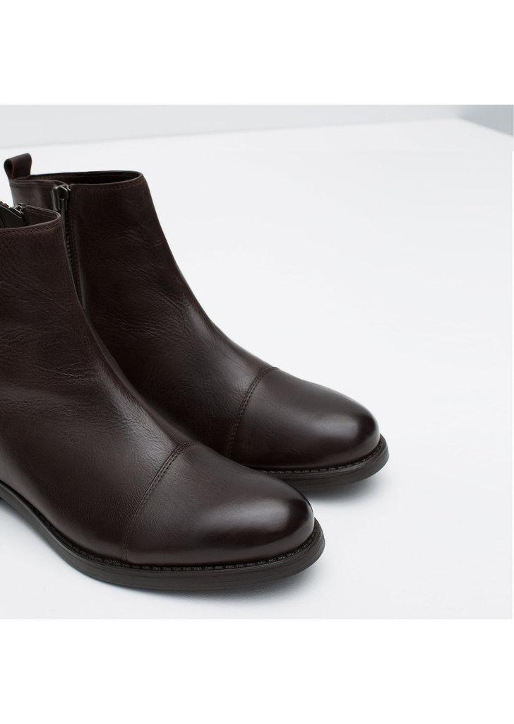 óriási kedvezmény 100% magas minőségű jó minőségű zara bőr bokáig érő férfi csizma d9cda6 - gilangagustiar.com
