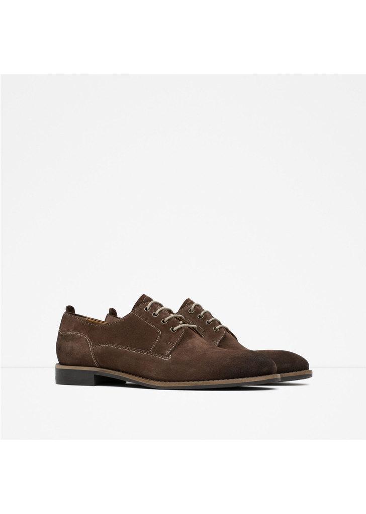 ... Zara barna férfi velúr cipő ... e579246092