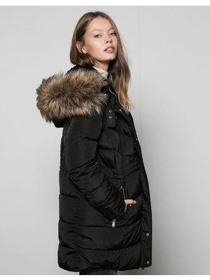 Bershka női poliészter kapucnis kabát 8bb83578b3