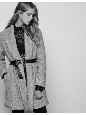 70b7f9dd2a Bershka szürke gyapjú női kabát, 17 595 Ft | 2015