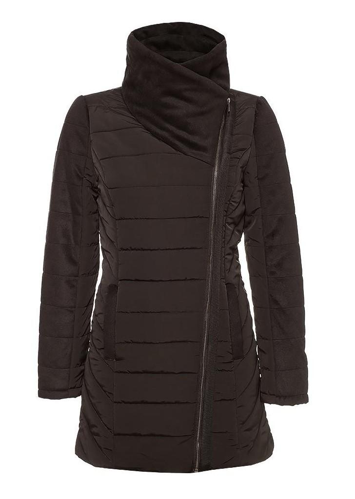 45c37f4676 Orsay női fekete steppelt laza téli télikabát, 70€ | 2015