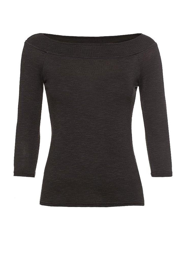 99fec1aa8 Orsay csábos fekete 3/4-es ujjú dzsörzé hosszú ujjú póló, 15€ | 2015