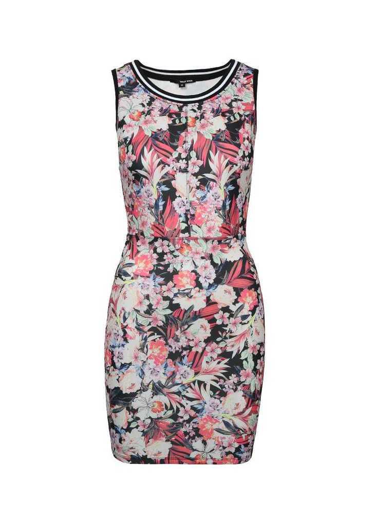 c1440c76b Tally Weijl fekete virágos testhezálló ruha, 30€ | 2015