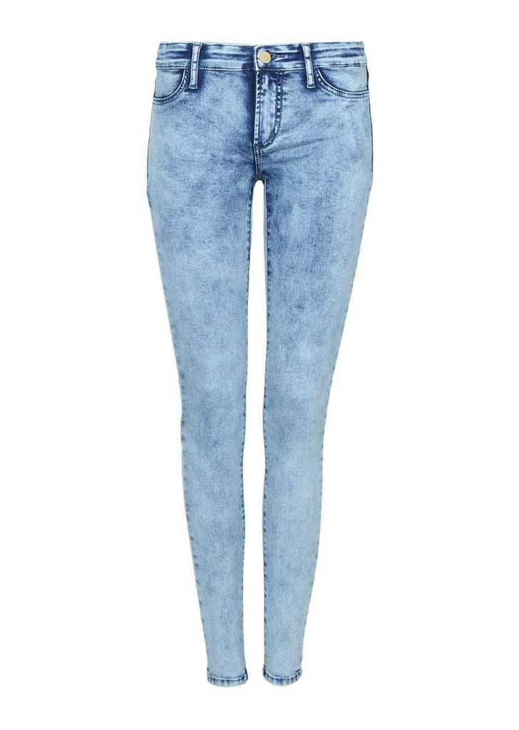 Tally Weijl kék koptatott szuper skinny farmer, 30€