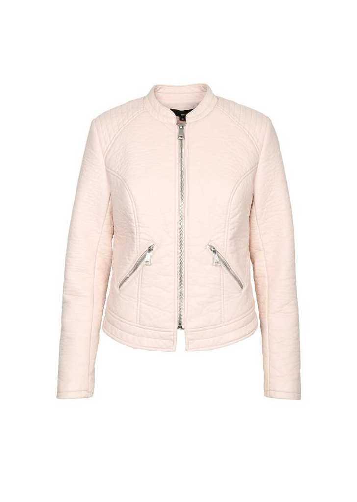 Női műbőr dzseki , rózsaszín
