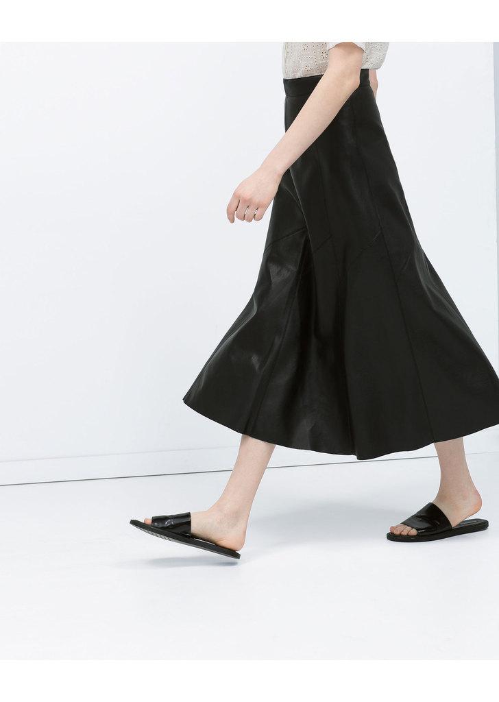 ... Zara fényes hatású ráncolt hosszú szoknya ... e5933d9eac