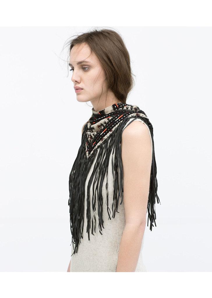 ... Zara mintás rojtos kendő nyaklánc f22b0683e9