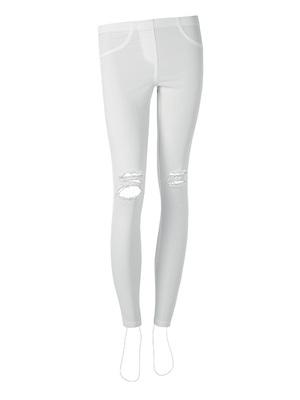 Calzedonia fehér térdnél szaggatott leggings 5c989c40b1