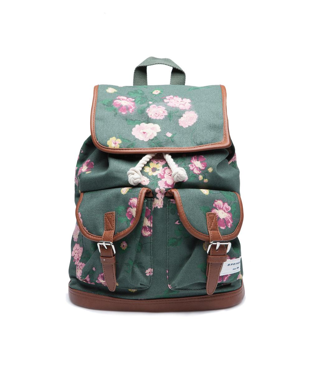 Springfield divatos virágmintás hátizsák kép 342358947f