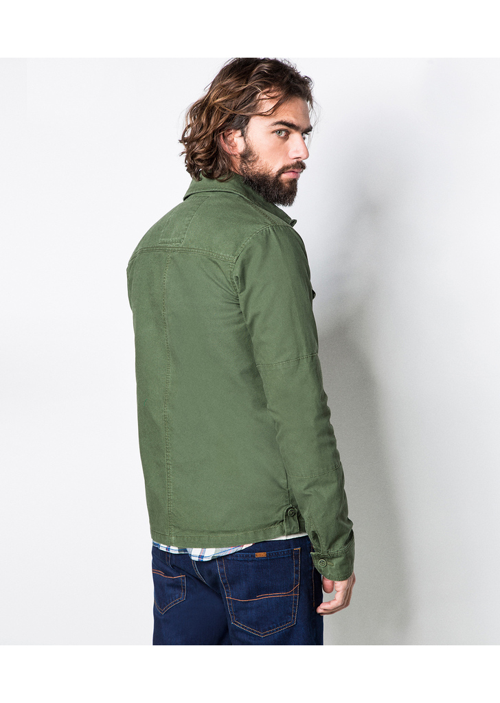 Springfield ing stílusú olajzöld dzseki, 40€ | 2015
