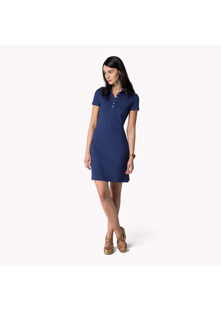 53d5042205 Tommy Hilfiger divatos női kék rövid ujjú pamut ingruha - Tommy