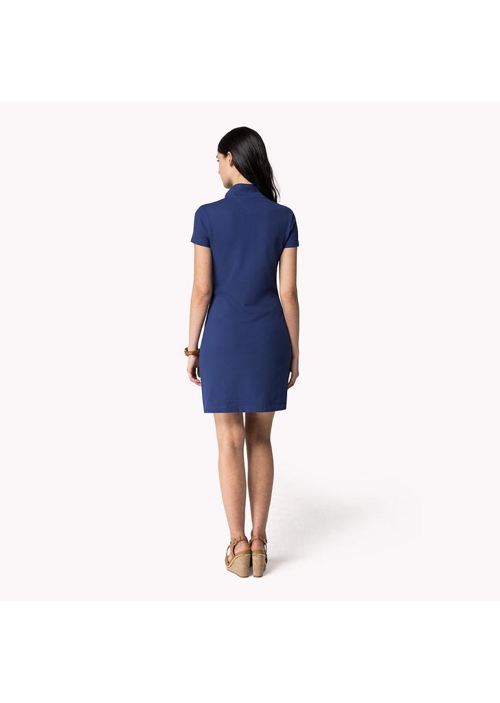 Tommy Hilfiger divatos női kék rövid ujjú pamut ingruha - Tommy 80ed902803
