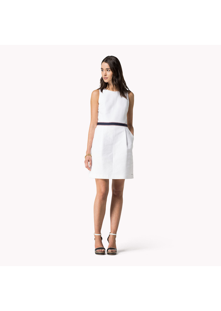 Tommy Hilfiger hátul cipzáros fehér női ruha ... 2be1adf1ff