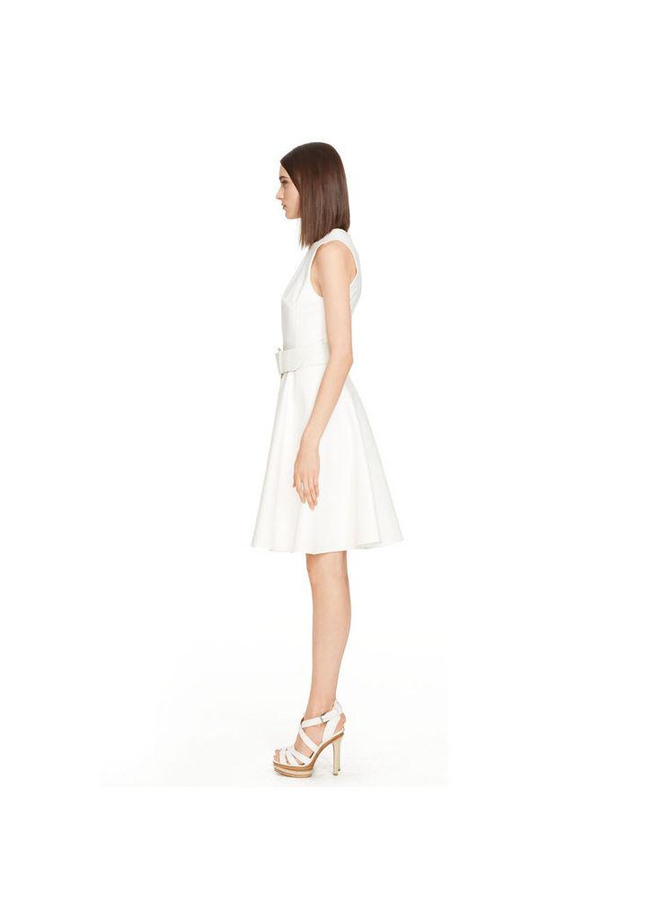 ... Ralph Lauren fehér sztreccs pamut Jamee ruha 57f5ebba3e
