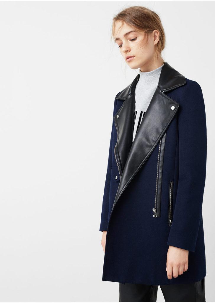 668653db5e Mango kontraszt galléros kabát, 27 995 Ft | 2016
