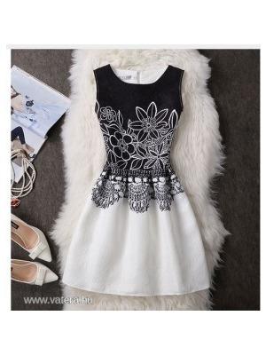 920debed20 Fekete-fehér női ruha, M méret - Vatera, 3 501 Ft | #196296 <<