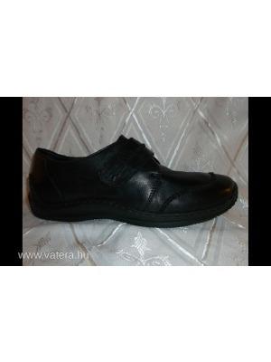 RIEKER fekete női bőr kényelmi zárt cipő 9ad74490d7