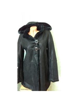 bc6af03ccc Női téli kabát, műbőr kabát ***ISACO&KAWA 40-es M-es Fekete