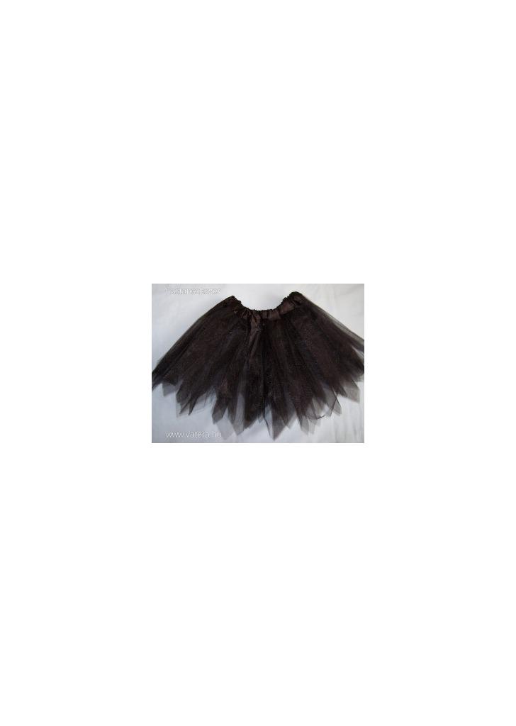 02287d8e74 Gyerek bakfis tüll szoknya tütü balettszoknya cakkos fekete - Vatera,
