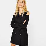 Bershka Off-shoulder dress-type blazer