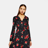 Bershka Printed shirt-dress